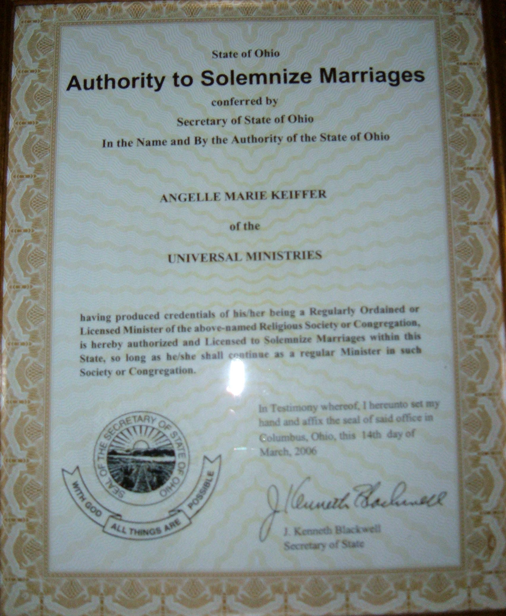 Wedding Officiant Rev Angelle Non Denominational Ohio Wedding